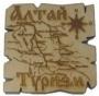 Магнит карта средняя (7x7)